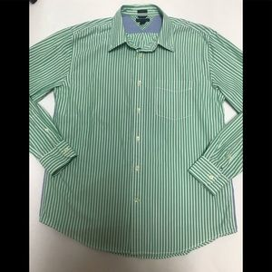 Tommy Hilfiger trim fit button up shirt large